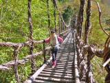 13:00 長いー下山コースやっと到着 奥かずら橋