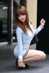 韓国人グラビアアイドル写真 セクシー ワンピース ミニスカート カメラ目線 OL風コスプレ 太もも 整形美人 高画質エロかわいい画像137