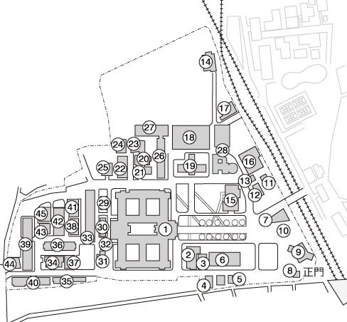 部室の地図