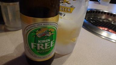 フリービール、うまいね。