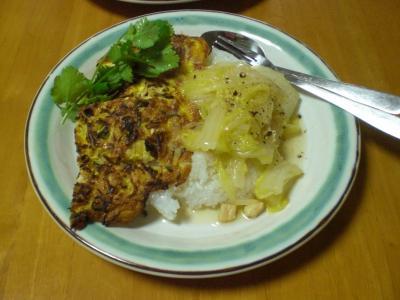 切干大根入り卵焼きと白菜とホタテのくたくた煮