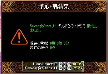 12月2日 ライオンGv VS Seven☆Stars_H様