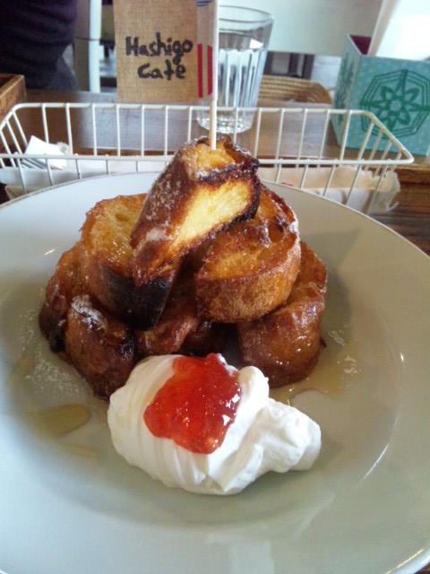 ハシゴカフェのフレンチトースト2