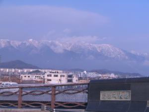 比良雪景色