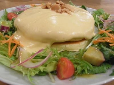 パンケーキママカフェVoiVoi(4種のチーズフォンデュ・パンケーキアップ1)