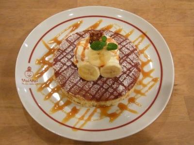パンケーキママカフェVoiVoi(さっちゃんのバナナパンケーキ(スープセット)¥1300)