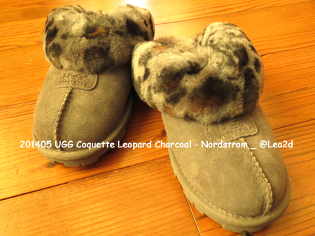 201405 ugg(アグ)-COQUETTE(コケット) ※Leopard Charcoal(レオパード チャコール)。購入場所:ALA MOANA CENTER(アラモアナセンター)のNordstrom(ノードストローム)