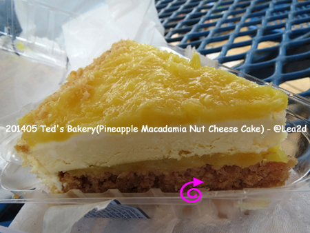 201405 テッズ(Ted's Bakery)のPineapple Macadamia Nut Cheese Cake