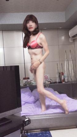 女装子光枝のペニクリ&アナルマンコ