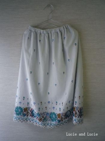 シャーベットカラーのギャザースカート1