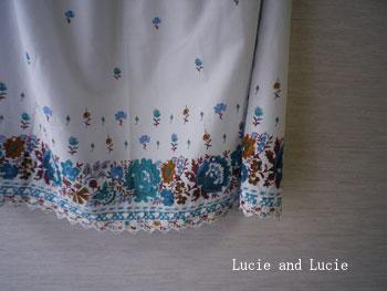 シャーベットカラーのギャザースカート2