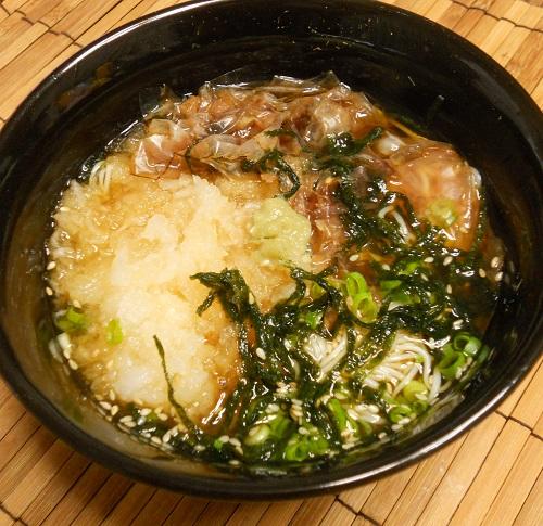 秋のぶっかけ素麺9