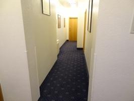 シュランネホテルの外の廊下