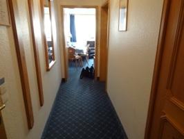 シュランネホテルの部屋の通路