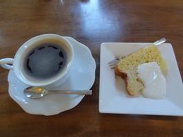 コーヒーとクーポンのシフォンケーキ