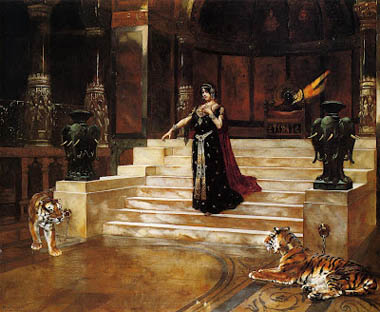 Salome and the Tigers - Rudolph Ernst