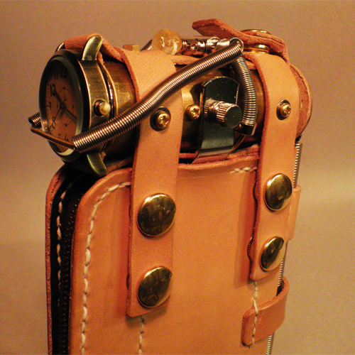 Steampunk wallet purse