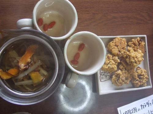 【縮小】ゴボウ茶&お菓子