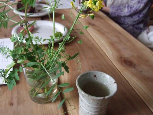 野草と葛スープ