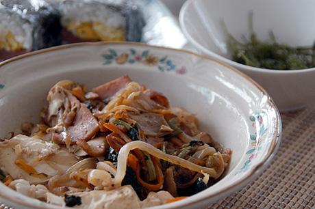 0803朝ごはん豆腐チャンプルー.jpg