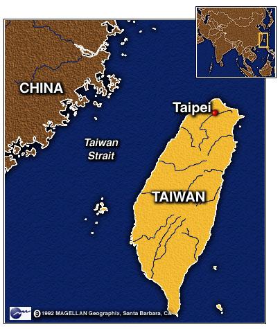 台湾中国地図 taiwan-china-map