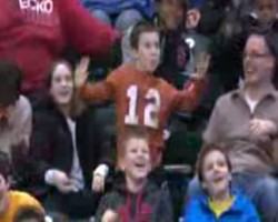 Dancing Kid at Pacers-Rockets Game