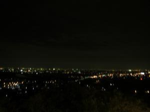 濃尾平野の夜景
