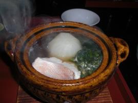 蕪】と甘鯛の鍋