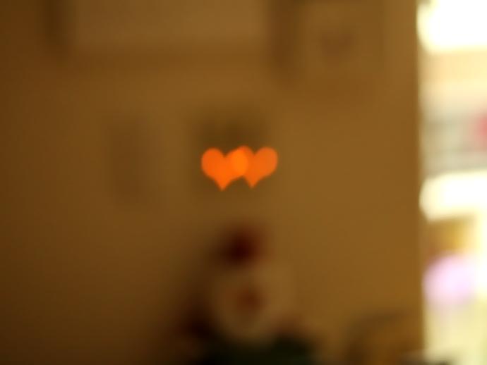 ハート型の光の実験