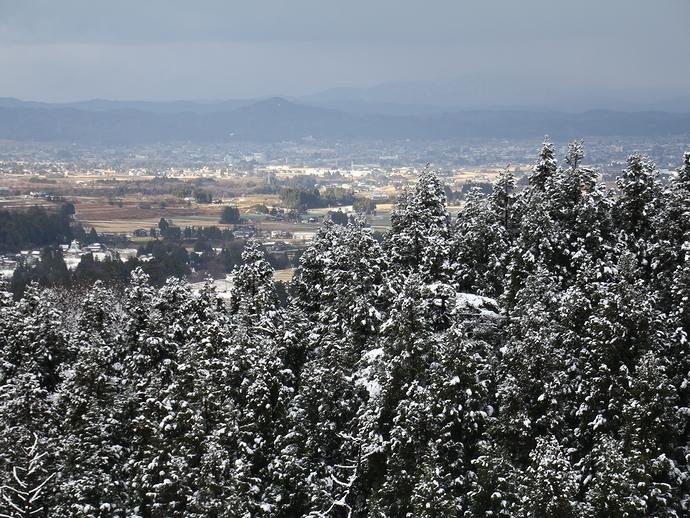 国道304号線 散居村の展望台より 初冬の風景