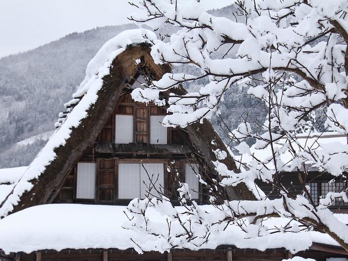 冬の相倉合掌造り集落