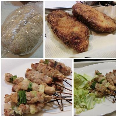 240331塩麹と豚ロースかつ&焼き鳥