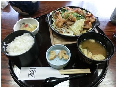 250414くらや(ホルモン焼き定食)