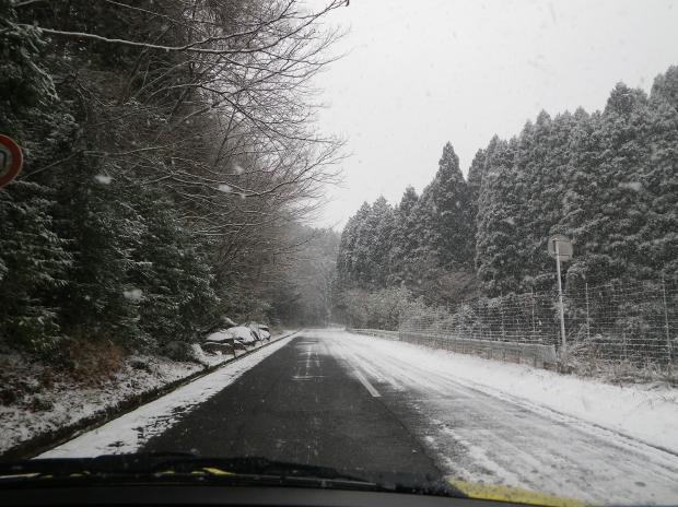 ついに積雪路