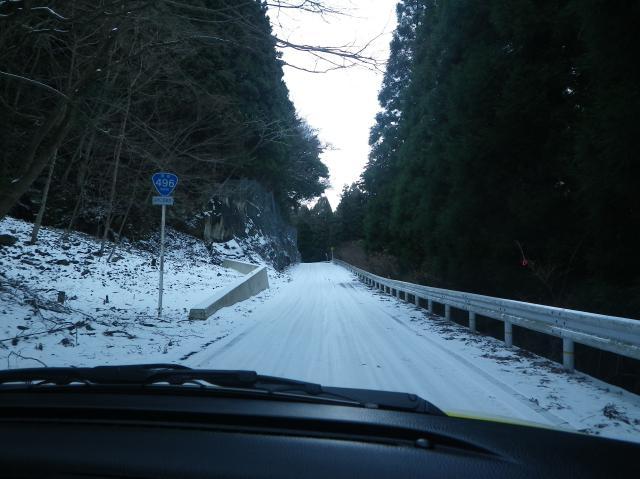 雪道を走り~