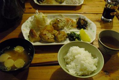 19 槍沢ロッジ・夕食