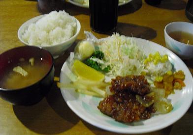 23  槍ケ岳山荘・夕食