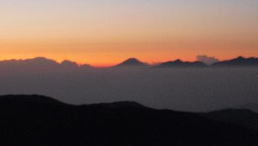 3 槍ケ岳山荘からの富士山