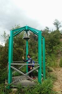 八重山山頂付近の鐘