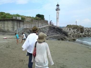 和歌山の海にて