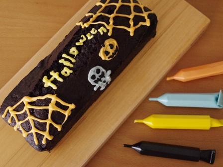 ブラックココアとかぼちゃのハロウィンパウンド08