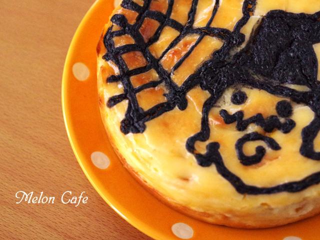 ハロウィンのお絵かきマンゴーチーズケーキ06