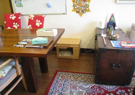 居間のフクロウハウス