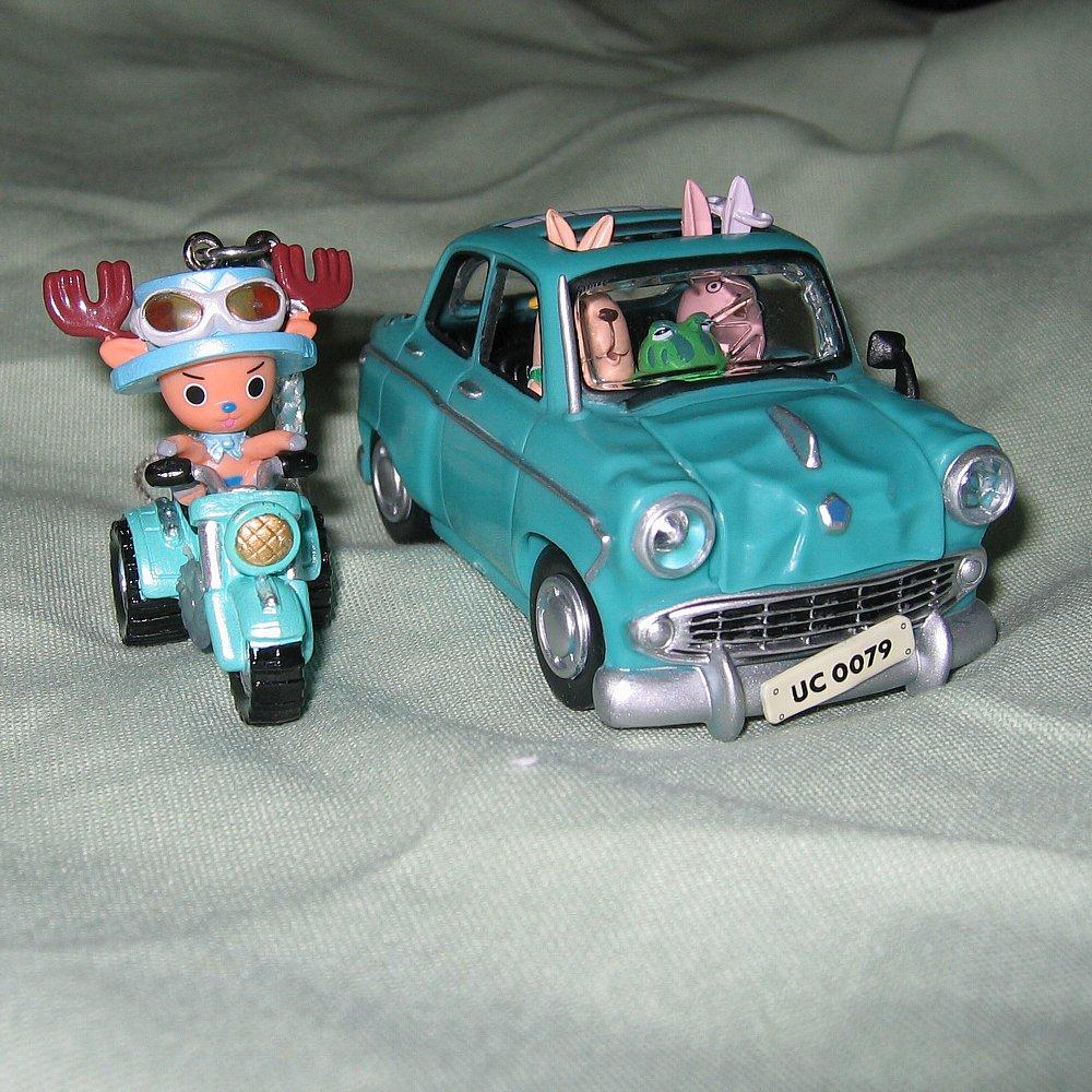 チョツパー3輪バギーとリストカットの少女