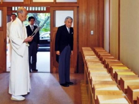 「新嘗祭」の「献穀」=皇居の賢所参集所で13年11月1日