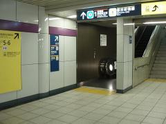 九段下駅4番線神保町寄り階段