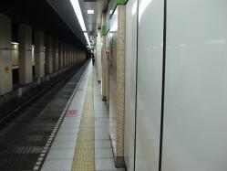九段下駅新宿線ホーム