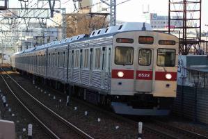 東急8500系 梅島にて