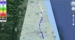 国道6号線 線量地図