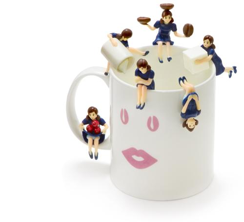 微糖のフチ子とマグカップ